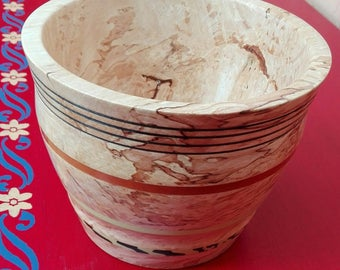 Spalted ash and resin finish food jar