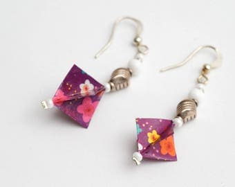 (Origami) paper earrings