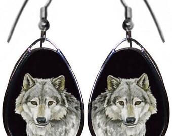 White Wolf earrings