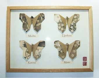 """The four Incommensurables"" butterfly box"