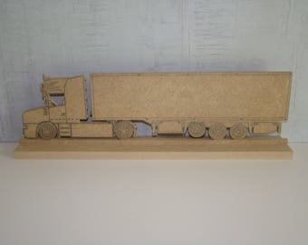 Semi trailer American wooden mdf on the base has customize 34 x 8.5 cm approx