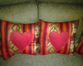 COLLECTION VALENTINE COVERS PILLOWS AND SOFA ABLE COTTON
