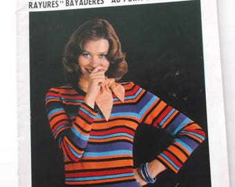 KNIT-CROCHET patterns and work - no. 45 vintage booklet