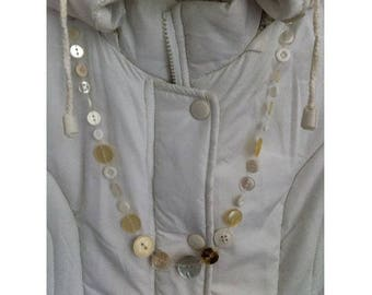 Buttons by white buttons BAGART necklace necklace