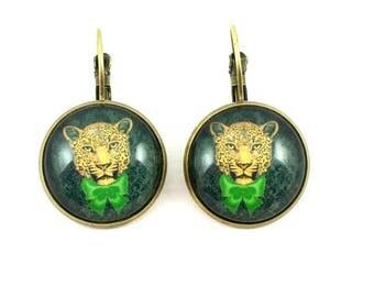 Earrings sleepers elegant #tigre #.