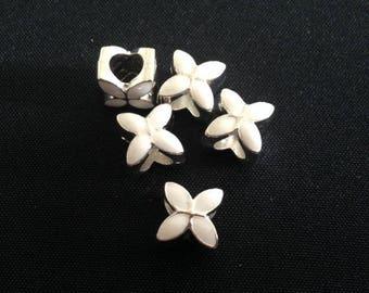 2 PCs - European beads Charms - large hole