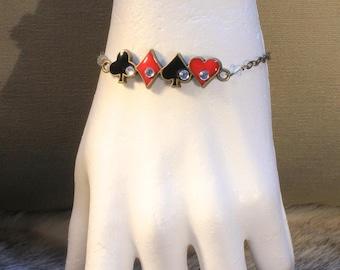 "Bracelet ""poker"" steampunk vintage retro"