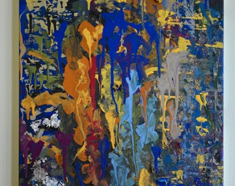 Original Abstract Acrylic on Canvas