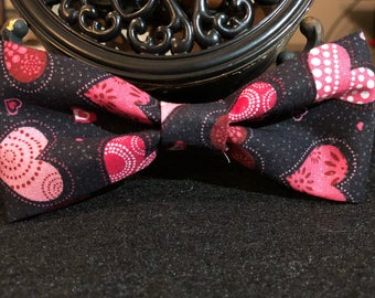 Black with multi pink hearts(dog)