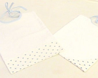 Box 2 bibs cotton fabric and sponge - free shipping