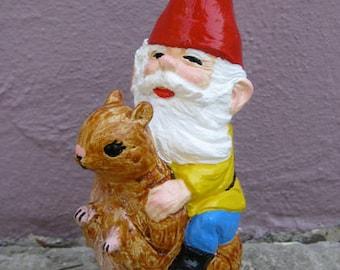 Squirrel Riding Gnome