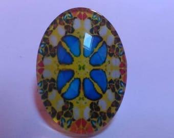 Oval cabochon glass 18 x 25