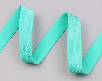 Elastic flat green color