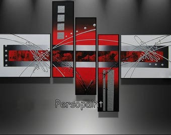 Tables design red gray black Red & white sylver 120 cm