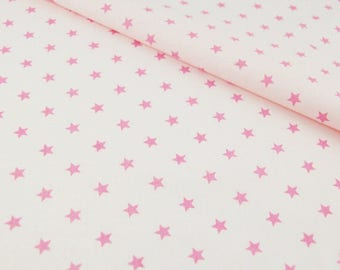 100% cotton fabric coupon 100 x 160 cm, with a motif star
