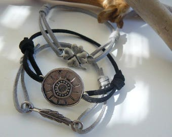 "Trio of bracelets ""Tibetan"" men/women"