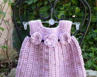 Purple baby for little girl dress