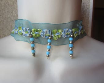 The Choker in blue organza