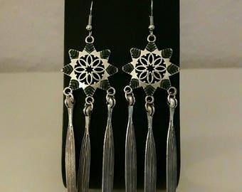 Silver earrings. nickel free hooks