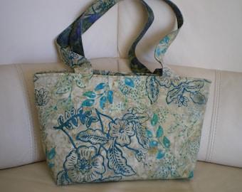 Batik patchwork fabric handbag