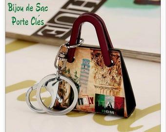 Handbag pendant Italy acrylic Keyring bag charm