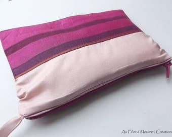 Pink natural silk makeup
