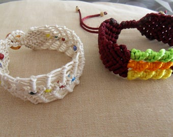 WIRE TWIST AND PELERS MACRAME BRACELETS