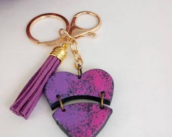 Key heart and tassel