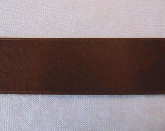 Double faced satin ribbon, Brown (S-247)