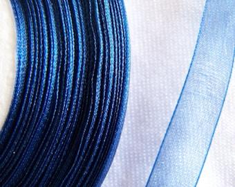 Organza Ribbon, blue (O-054)