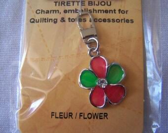 Pull for zipper (90716) flower pattern