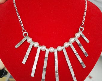 Necklace silver wire