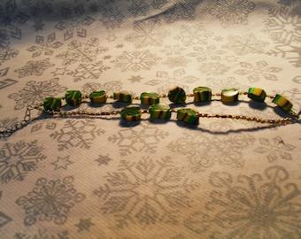 Bracelet trend, stylish, summery, original (purple, green and yellow)