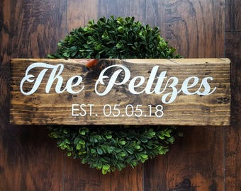 Last Name Sign | Last Name Established Sign | Custom Last Name Sign | Established Date Sign | Custom Wood Signs | Farmhouse Decor