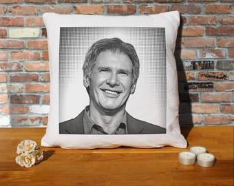 Harrison Ford Pillow Cushion - 16x16in - White