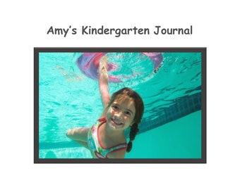 "Personalized 1-1/8"" Ruled Student Journal - Child's Picture, Name & Age/Grade/Year on Cover - Fully Lined or Room for Drawing at Top"