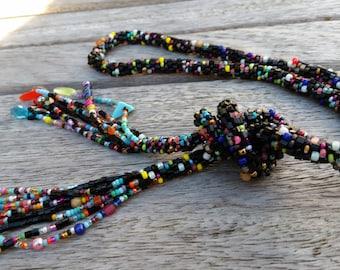 "Long multicolor Pearl necklace ""I love the color"""