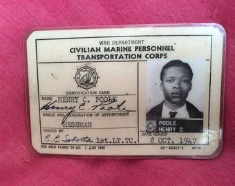 WW2 Merchant Seaman identification cards