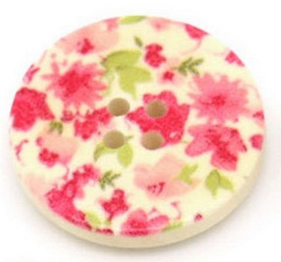 BBR30233 - 2 BUTTONS ROUND 30 MM WOODEN PATTERN WITH COLORS