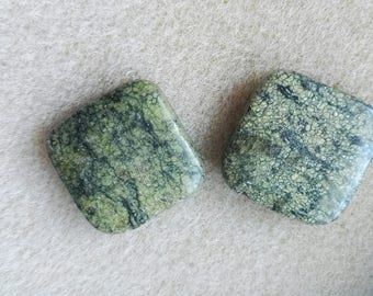 2 beads form a square serpentine stone