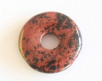 donut pendant with semi precious, individually