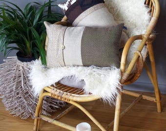 Bohemian cushion chic in beige and Brown