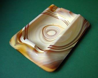 Vintage Slug Glass Ashtray - Beautiful