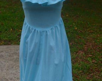 1970s dress - 70s dress - vintage dress - summer dress - vintage summer dress - Swiss dot dress - Maxi dress