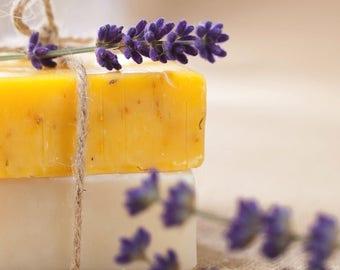 Handmade Lavender & Lemon Soap Bar