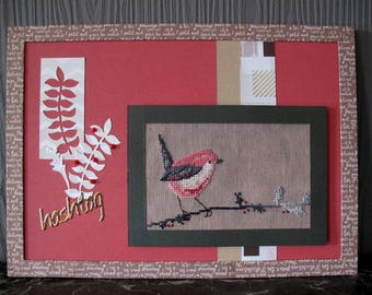 """""""Hashtag"""" pink and grey bird painting"""