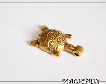 Set of 4 charms & pendants tortoise gold 20 x 12 mm m1235