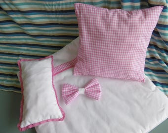 Set of 4 pieces of linens for bed doll