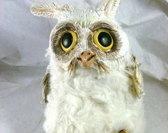 P'titeChose fluffy white OWL.