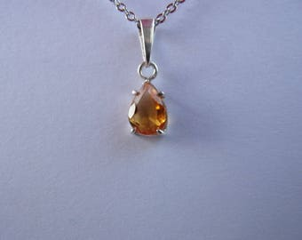 Sterling Silver and natural gemstone (citrine)